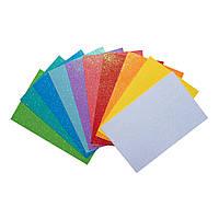 """Набір Фоаміран ЕВА з глітером """"Fashion colors"""", 10 кольорів, А4, товщина 1,7 мм."""
