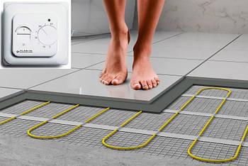 Нагревательный мат для электрического теплого пола под плитку