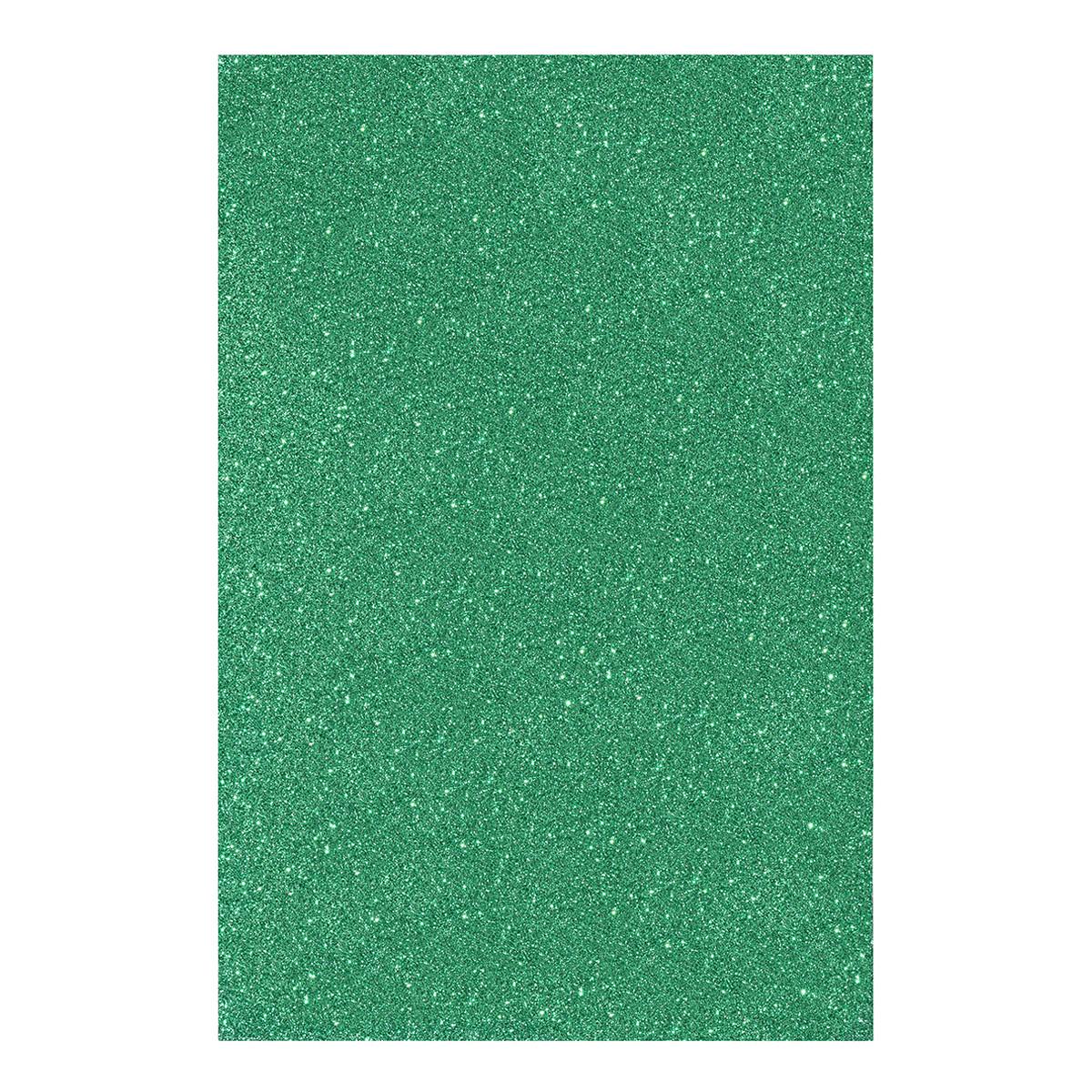 Фоаміран ЕВА яскраво-зелений з глітером, з клейовим шаром, 200*300 мм, товщ. 1,7 мм, 10 ар