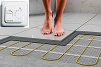 Нагревательный мат для электрического теплого пола под плитку без стяжки готовый к укладке в плиточный клей