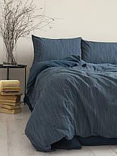 Комплект постільної білизни 200x220 LIMASSO MOZAIK DRESS BLUE синій
