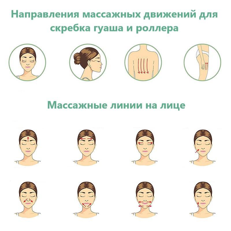 Массаж роллером для лица из агата рикта и милта массажеры