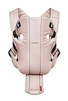 Эргономичный рюкзак кенгуру Babybjorn ORIGINAL Cotton-Jersey, бледно-розовый/серый., фото 1