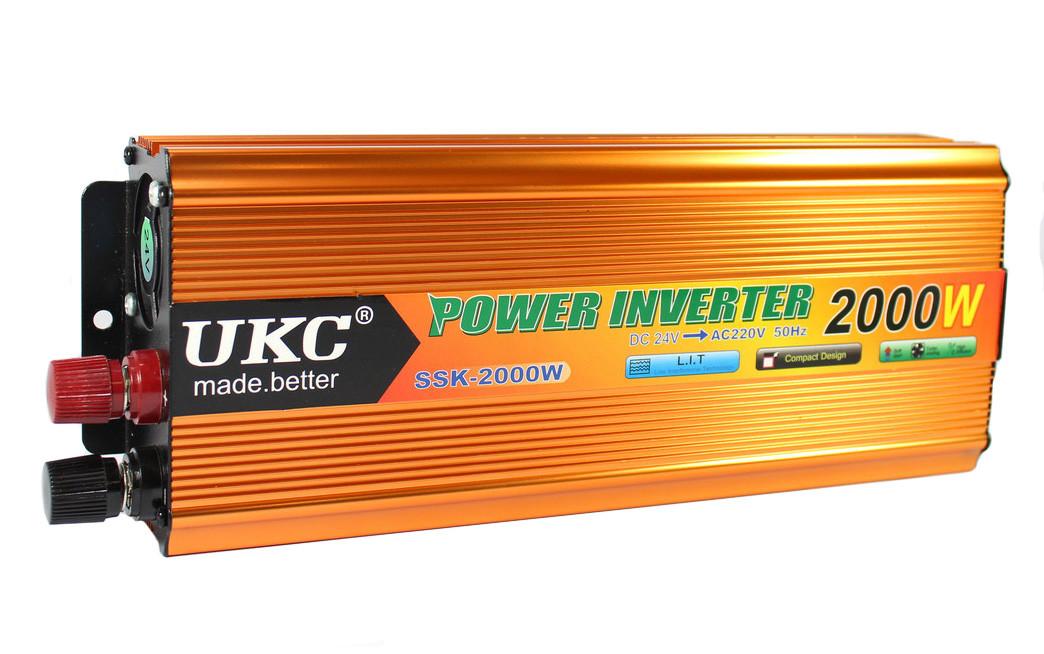 Преобразователь Инвертор UKC AC/DC 2000Вт, 24В SSK