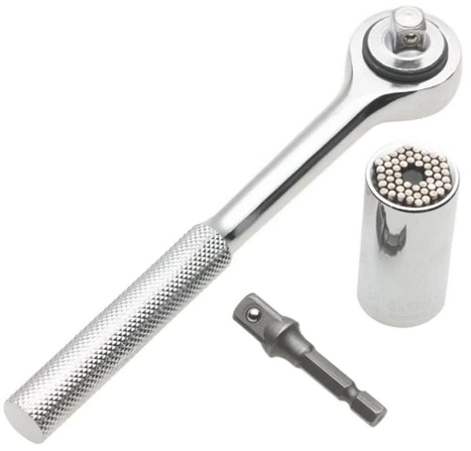 Торцевий гайковий ключ TOOL 7-19 мм універсальний з тріскачкою