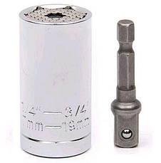 Торцевий гайковий ключ TOOL 7-19 мм універсальний з тріскачкою, фото 2
