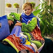 Детский плед с рукавами из микрофибры Football, фото 2