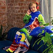 Детский плед с рукавами из микрофибры Football, фото 3