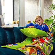 """Детский плед с рукавами из микрофибры """"Патруль"""" (зеленый), фото 3"""