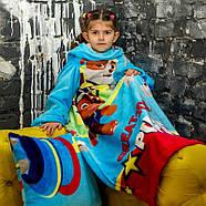 """Детский плед с рукавами из микрофибры """"Патруль"""" (голубой), фото 4"""
