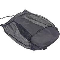 Сетка рюкзак-сумка для переноски мячей Zelart 78 x 47 x 27 см на 15 мячей Полиэстер Черный (С-4612)