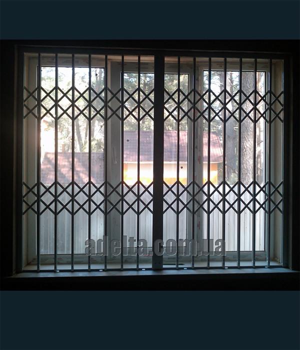 Решетки раздвижные на окна Шир.1965*Выс1550мм