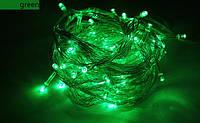 Новогодняя светодиодная гирлянда нить 10 метров зеленый, фото 1
