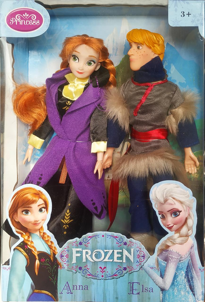 """Набір ляльок """"холодне серце"""" Анна і Крістофф"""