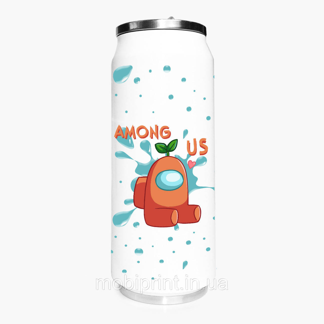 Термобанка Оранжевый Амонг Ас (Orange Among Us) 500 мл (31091-2410-1) из нержавеющей стали