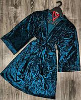 Велюровый халат женский, одежда для дома.