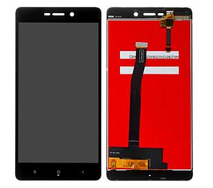 Модуль для Xiaomi Redmi 4A, черный, дисплей + сенсор