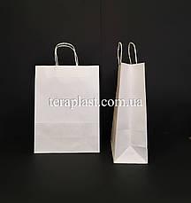 Бумажные подарочные белый пакеты с ручками 280х150х380, фото 3