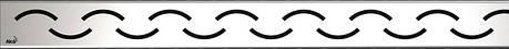 Решетка для водоотводящего желоба (нержавеющая сталь глянцевая), 750мм, фото 2