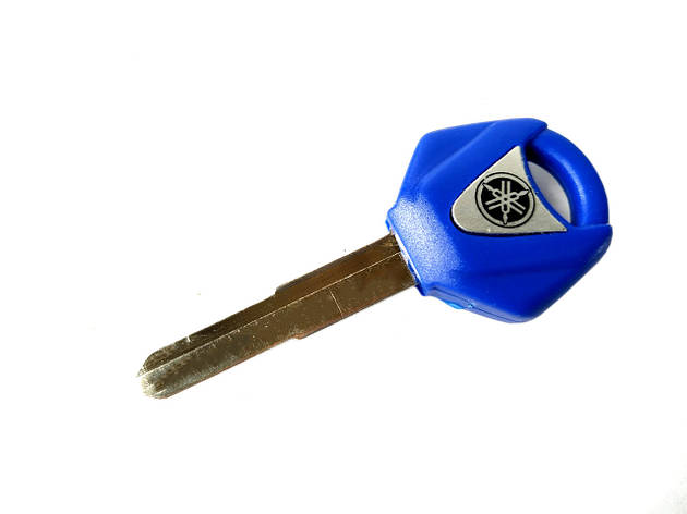 Ключ замка зажигания (заготовка) Yamaha синий LIPAI, фото 2