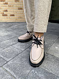 Женские ботинки кожаные зимние бежевые, фото 7