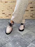 Женские ботинки кожаные зимние бежевые, фото 8