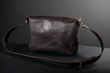 "Мужская сумка "" Модель №51"" Винтажная кожа цвет Шоколад"