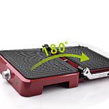 Контактный гриль  DSP (1800 Вт) слив жира (красный), фото 3