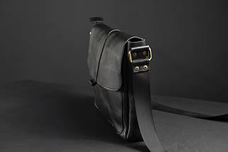 """Мужская сумка """"Модель №53"""" Кожа Итальянский краст цвет Черный, фото 2"""