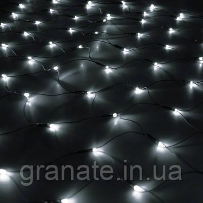 Гирлянда Сетка светодиодная 2х2 м, цвет: холоднй белый 320 LED