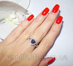 Серебряное кольцо с натуральным сапфиром, фото 3