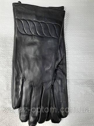 Перчатки женские кожа Лайкра оптом внутри плюш (6,5-8,5)Румыния 03 -63172, фото 2