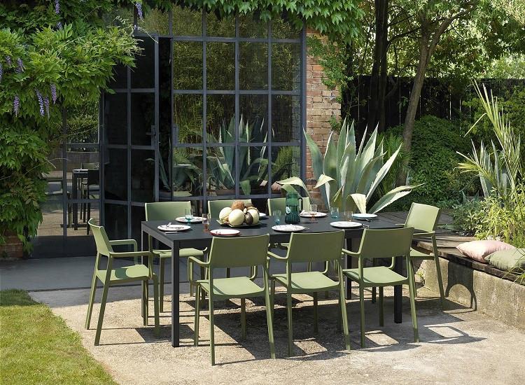 Комплект  Стіл  Rio  210 -280 см + 8 крісел Trill