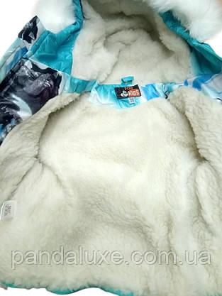 Детский зимний комплект тройка комбинезон для девочки до 2-х лет, фото 3