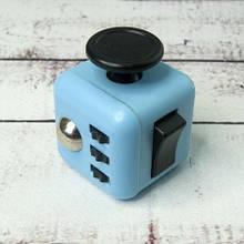 Фиджет Куб Fidget-Cube (антистрес) блакитний з чорними кнопками