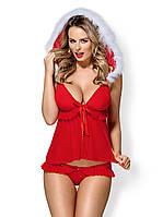 Ролевой костюм - 851-CST-3 костюм новогодний Obsessive, красный, S/M