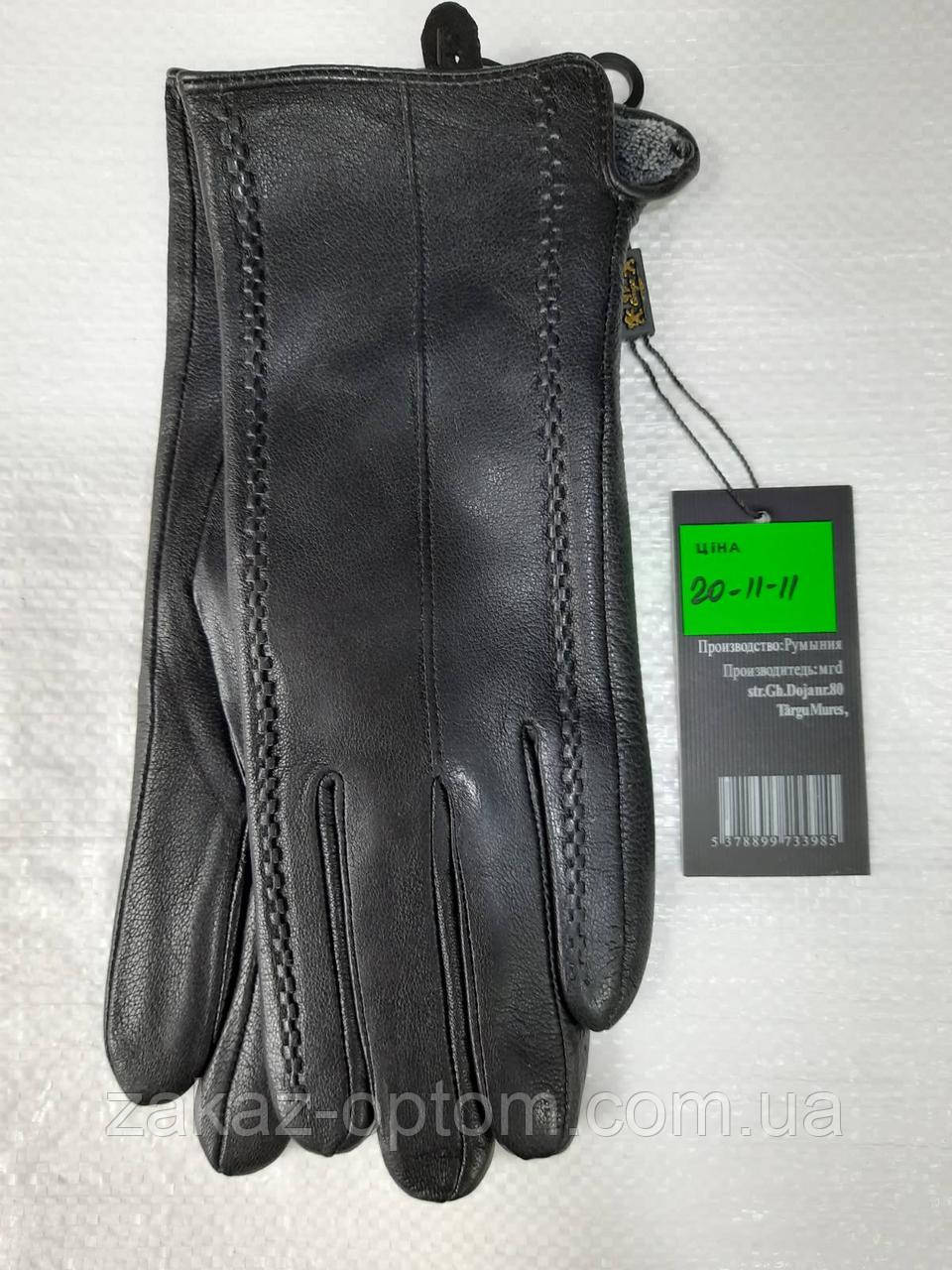 Перчатки женские кожа оптом внутри плюшевая махра(6,5-8,5)Румыния20-11-10 -63183