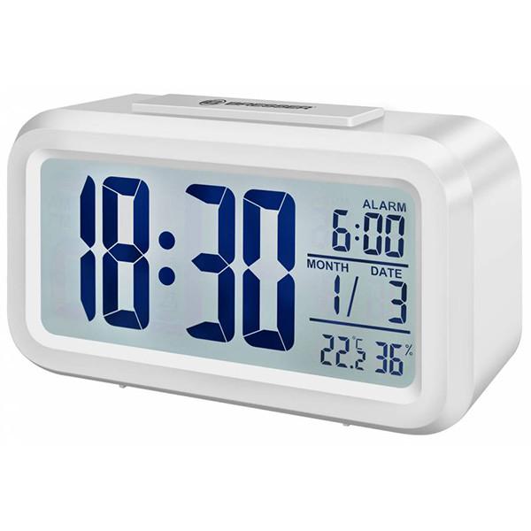 Термометр-гигрометр с часами Bresser Mytime Duo White