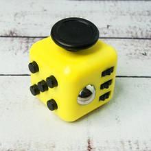 Фиджет Куб Fidget-Cube (антистрес) жовтий з чорними кнопками