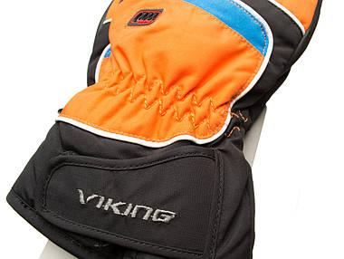 Рукавиці гірськолижні Viking Biset 8 M Чорний-Оранжевий 54, фото 2