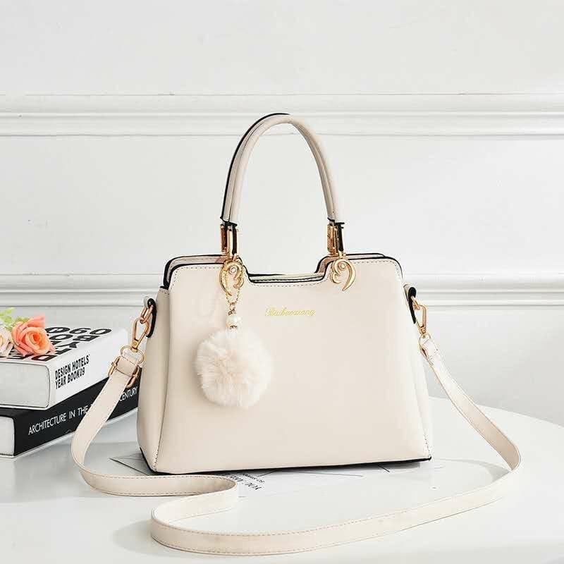 Женская сумка, экокожа PU (молочный)