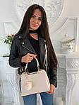 Женская сумка, экокожа PU (молочный), фото 4