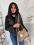 Женская сумка, экокожа PU (бежевый), фото 4