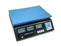 Электронные торговые весы Opera Plus до 40 кг | Напольные электронные весы для торговли