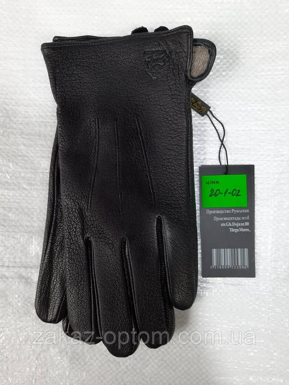 Мужские перчатки оптом кожа оленья(10,5-12,5)Румыния 20-1-02 -63193