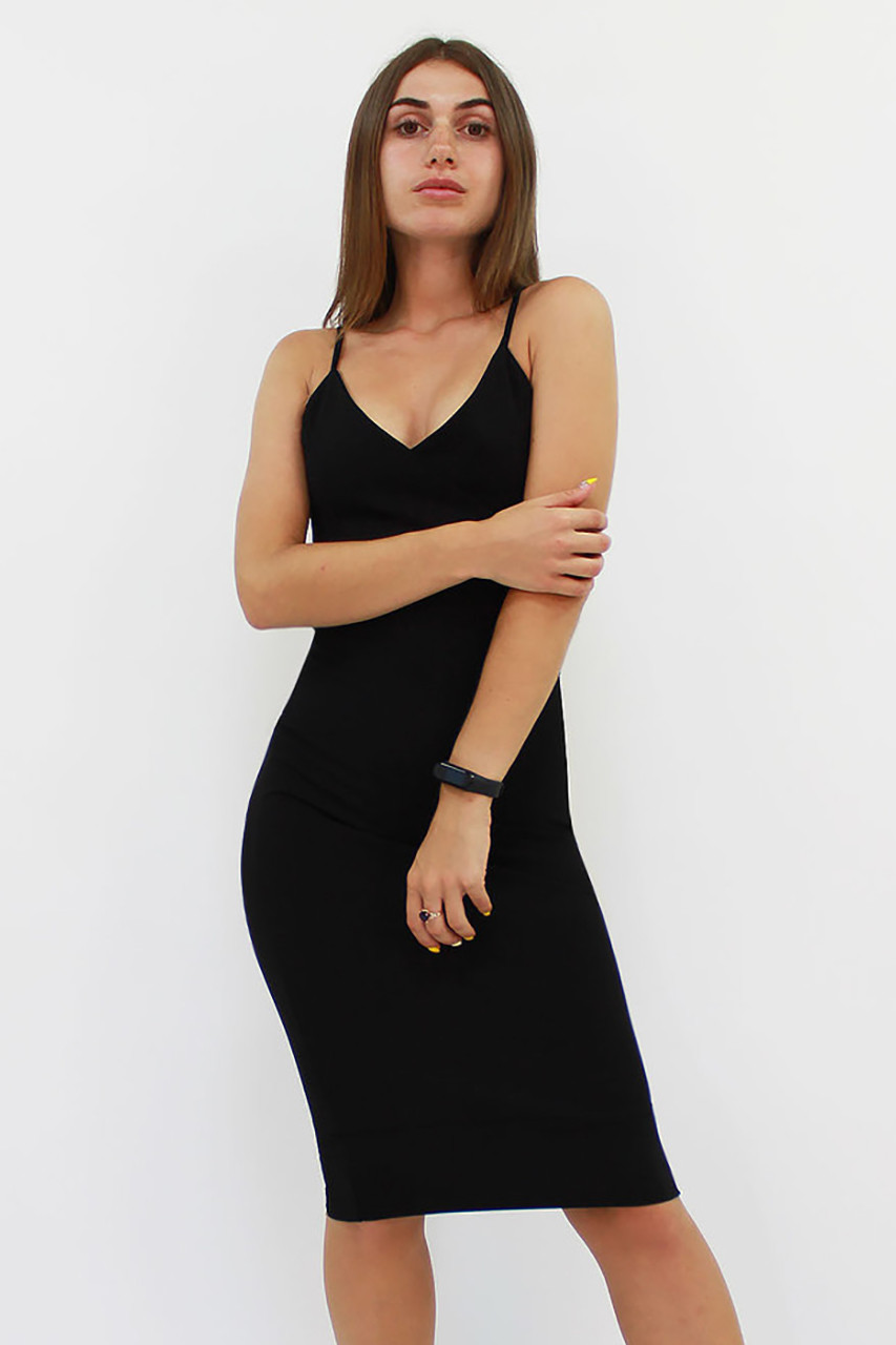 Облягаюче коктейльне плаття Balis, чорний