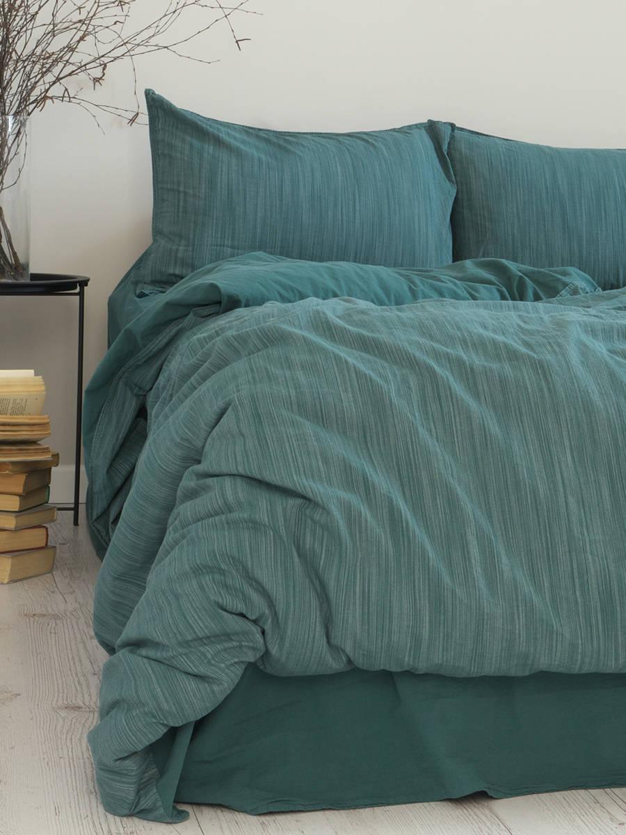 Комплект постільної білизни 200x220 LIMASSO MOZAIK DARK GREEN зелений
