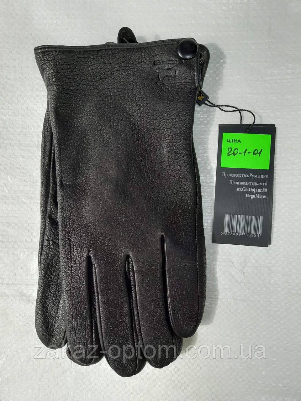 Мужские перчатки оптом кожа оленья(10,5-12,5)Румыния 20-1-00 -63198
