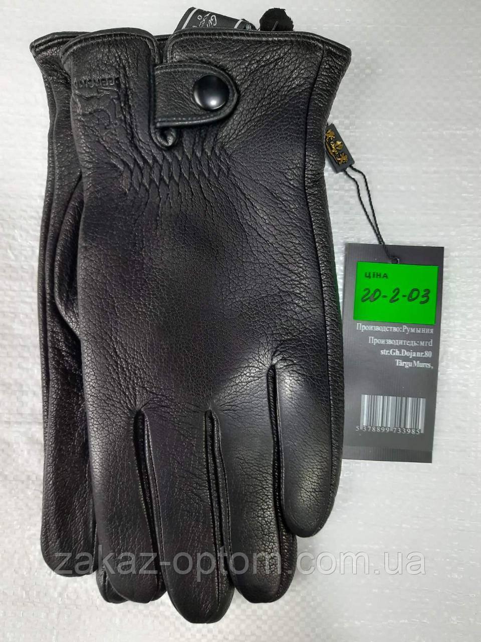 Мужские перчатки оптом кожа оленья(10,5-12,5)Румыния 20-2-03 -63199