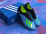 Бутсы Adidas X 18.1/ футбольная обувь без шнурков, фото 3